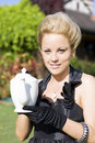 High Tea Woman Royalty Free Stock Photo