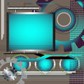 High tech background abstract with futuristic blue frame Royalty Free Stock Photo