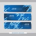High-tech banner set template design Royalty Free Stock Photo