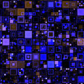 High-tech Blue Boxes Background Royalty Free Stock Photo