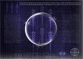 High tech. Business statistics on a dark blue background