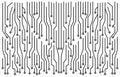 High tech circuit board vector symbol icon design. Royalty Free Stock Photo