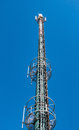 High-Tech Electronic Communications Tower Royalty Free Stock Photo