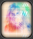 High tech face technology background a futuristic female on screen beauty Royalty Free Stock Images