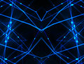 High tech futuristic networks backgrounds abstract style background in black and blue colors Royalty Free Stock Photo