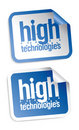 High technologies stickers Stock Photos
