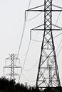 High tension lines power in va Stock Images