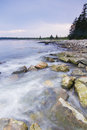 High tide in acadia mount desert island national park maine Stock Photos