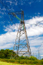 High-voltage columns Royalty Free Stock Photo