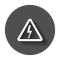 High voltage danger sign icon. Royalty Free Stock Photo