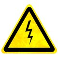 High voltage danger sign Royalty Free Stock Photo