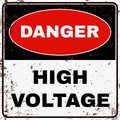 High Voltage. Danger Sign. Vector Royalty Free Stock Photo