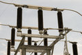 High voltage disconnecting switch Royalty Free Stock Photo