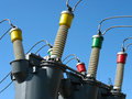 High voltage electric converters details Stock Photography