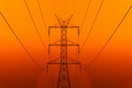 High Voltage Electric Transmission Tower Energy Royalty Free Stock Photo