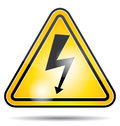 High voltage electricity icon. Royalty Free Stock Photo