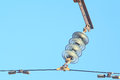 High voltage insulator Royalty Free Stock Photo