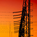 High voltage pilon circuit in a power substation Stock Photography