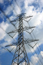 High voltage post.High-voltage tower Royalty Free Stock Photos