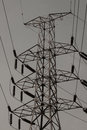 High voltage post high voltage tower with black and white picture style Stock Image
