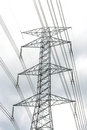 High voltage post on sky Royalty Free Stock Photo