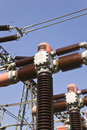 High voltage power isolators Stock Photos
