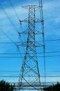 High voltage power pole Royalty Free Stock Photos