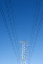 High voltage power pole Royalty Free Stock Images