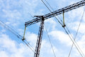 High-voltage power transmission line Royalty Free Stock Photo