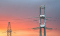 High voltage power transmission line Royalty Free Stock Photo