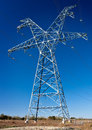High voltage power transmission tower Stock Photography