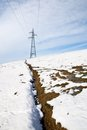 High-voltage pylon Stock Photos