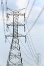 High voltage pylon Stock Photo
