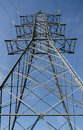 High voltage pylon power transmission Stock Photography