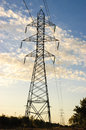 High voltage pylons towers with lines Royalty Free Stock Photography