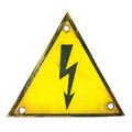 High voltage sign Royalty Free Stock Photography