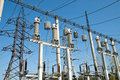High-voltage substation Stock Photography