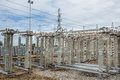 High voltage switchs at substation Stock Photography