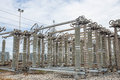 High voltage switchs at substation Royalty Free Stock Photography