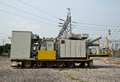 High voltage transformer mobile Royalty Free Stock Photo