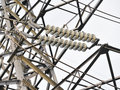 High voltage transmission power line Royalty Free Stock Photo