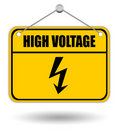 High voltage warning sign Royalty Free Stock Photos