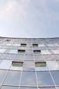 High wall of glass building Stock Photography