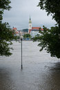 High water on the danube river in slovakia bratislava june level of bratislava exceeded centimetres june which triggered a third Royalty Free Stock Images