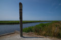 High water mark column at Vidaa, Wadden Sea, Denmark Royalty Free Stock Photo