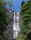 High waterfall of Pistyll Rhaeadr in Wales Royalty Free Stock Photo