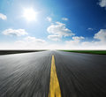 High way blue sky Royalty Free Stock Photo