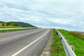 High way road outgoing to the horizon Royalty Free Stock Photos