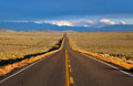 High way a straight road in the colorado priaries Royalty Free Stock Images