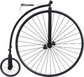 High Wheel Bicycle Isolated, Penny Farthing Royalty Free Stock Photo